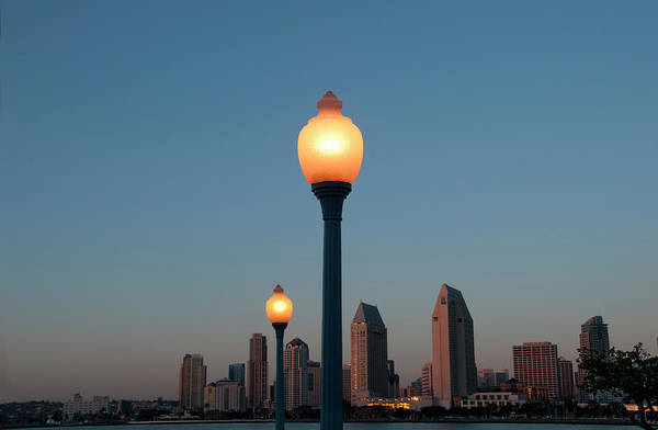 Tranquility Art Print featuring the photograph San Diego Skyline by Mitch Diamond