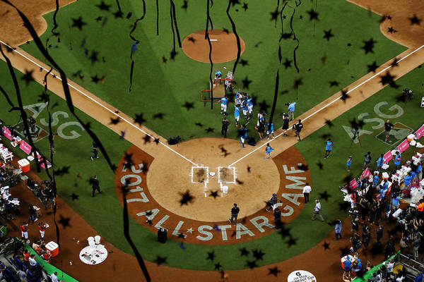People Art Print featuring the photograph T-Mobile Home Run Derby by Mike Ehrmann