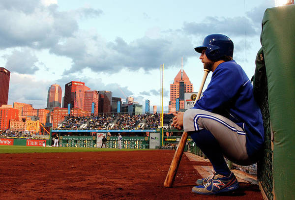 Professional Sport Art Print featuring the photograph Toronto Blue Jays V Pittsburgh Pirates by Justin K. Aller