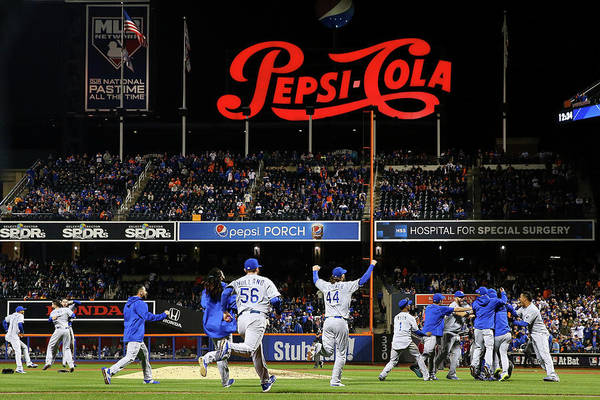 American League Baseball Art Print featuring the photograph World Series - Kansas City Royals V New by Al Bello