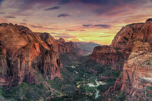 Scenics Art Print featuring the photograph Zion Canyon National Park by Michele Falzone