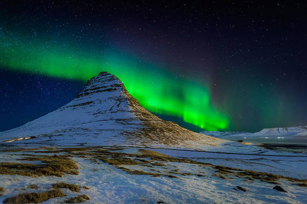 Photography Art Print featuring the photograph Aurora Borealis Or Northern Lights by Panoramic Images