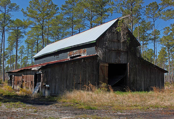 Barn Art Print featuring the photograph Abandoned Barn III by Suzanne Gaff