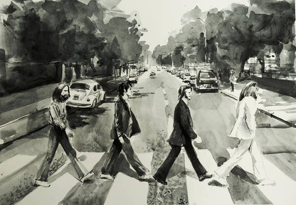 The Beatles Art Print featuring the painting Abbey Road by Bekim M