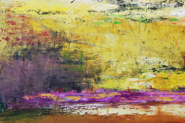 Oil Painting Art Print featuring the photograph Abstract Painted Yellow Art Backgrounds by Ekely