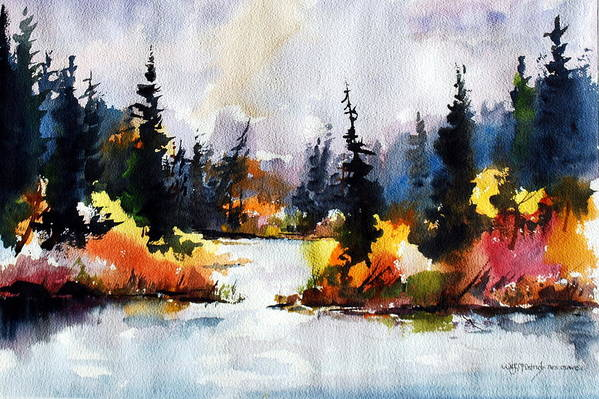 Mother Nature Provides A World Of Leafy Colour Art Print featuring the painting Autumn Attitude by Wilfred McOstrich