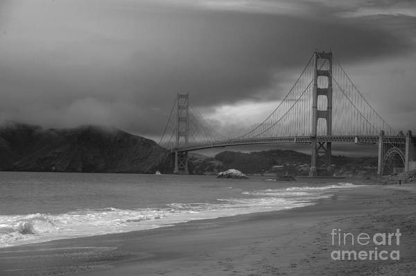Black And White Art Print featuring the photograph Baker Beach View by David Bearden