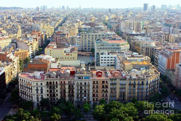 Barcelona Art Print featuring the photograph Barcelona by Sophie Vigneault