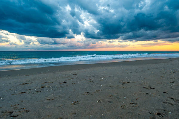 Clouds Art Print featuring the photograph Beach Clouds by Paul Johnson