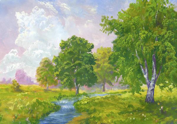 Scenics Art Print featuring the digital art Beautiful Summer by Pobytov