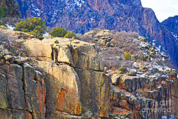 Roena King Art Print featuring the photograph Black Canyon Warmed By The Sun by Roena King