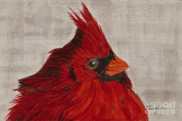 Cardinal Art Print featuring the painting Cardinal by Regan J Smith