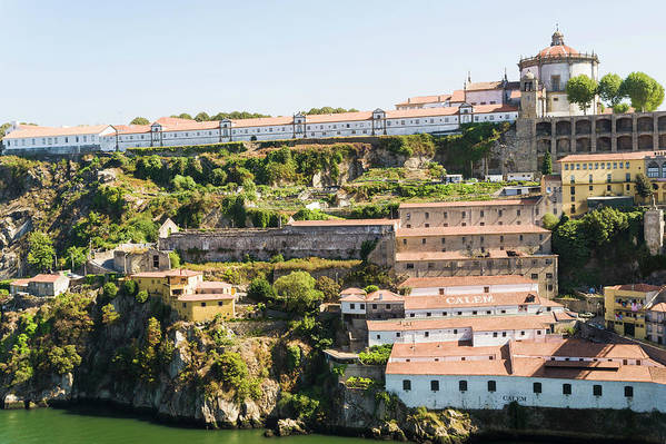Clear Sky Art Print featuring the photograph Casa Calem, Port Wine Houses, Porto by John Harper
