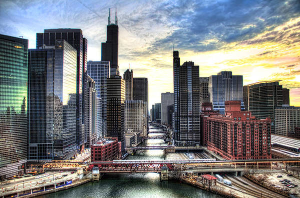 Chicago Art Print featuring the photograph Chicago River by Tammy Wetzel