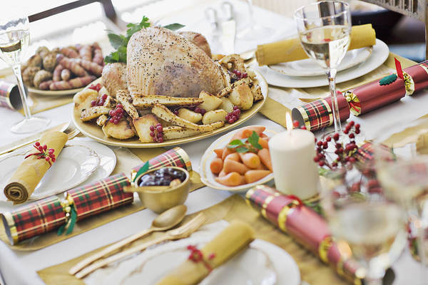 Holiday Art Print featuring the photograph Christmas dinner by Sam Edwards
