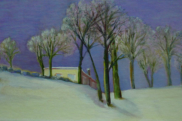 Christmas Card Art Print featuring the painting Christmas Eve       copyrighted by Kathleen Hoekstra