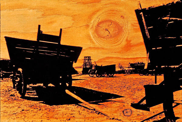 Calico Ghost Town Art Print featuring the photograph Circle The Wagons by Mike Flynn