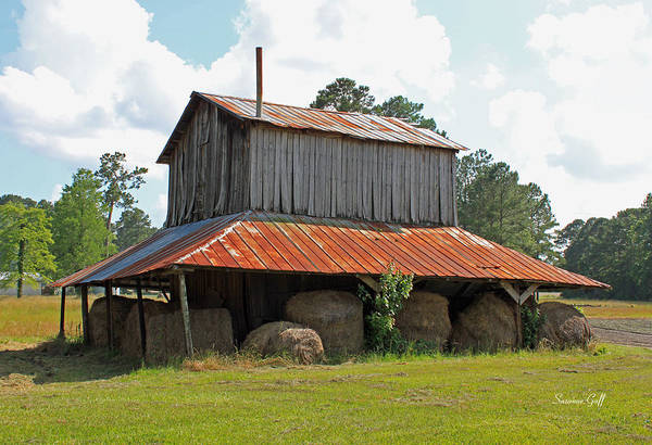 Tobacco Barn Art Print featuring the photograph Clewis Family Tobacco Barn by Suzanne Gaff