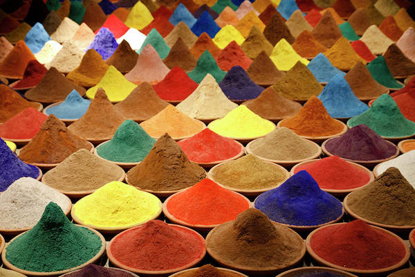 Heap Art Print featuring the photograph Colorful Spices by Gabriele Kahal - Www.flickr.com/photos/gabrielekahal