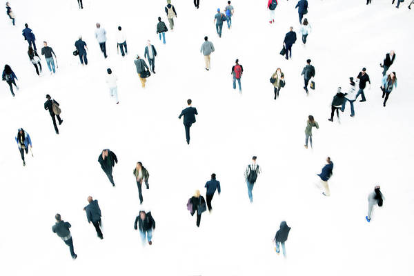 Working Art Print featuring the photograph Commuters by Ferrantraite