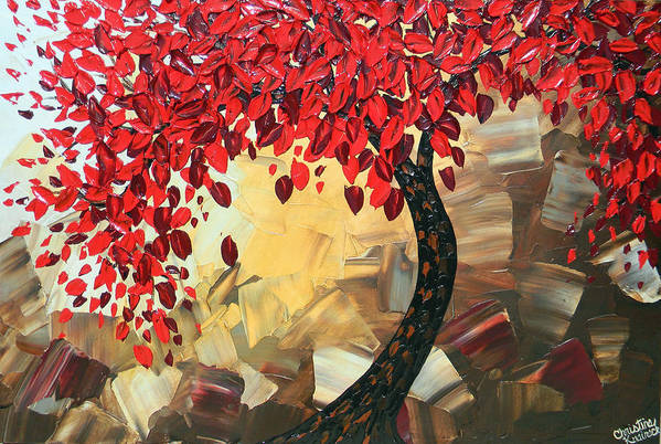 Art Art Print featuring the painting Crimson Beauty by Christine Bell
