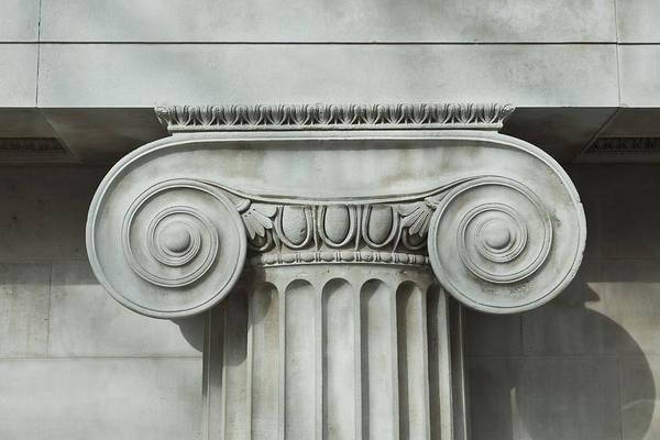 Shadow Art Print featuring the photograph Detail an ionic column by Norman Posselt