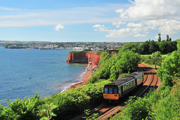 Passenger Train Art Print featuring the photograph Devon Train by Maxian