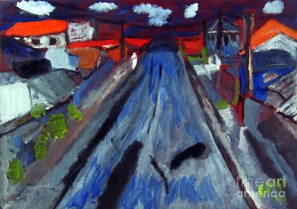 Curitiba Art Print featuring the painting Dr Rafael Robeiro Study 1 by Greg Mason Burns