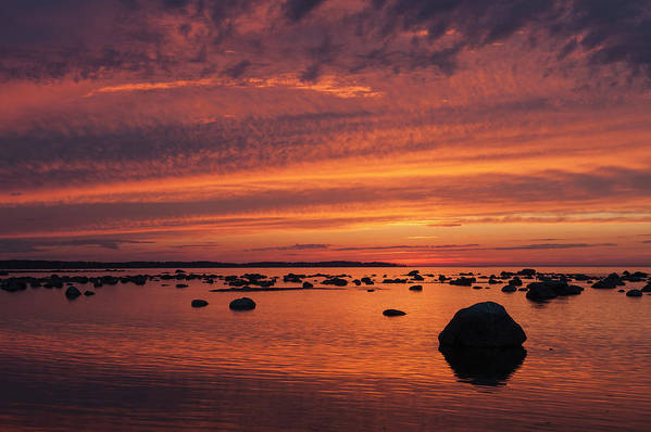 Tranquility Art Print featuring the photograph Dramatic Sunset Light by Franz Aberham