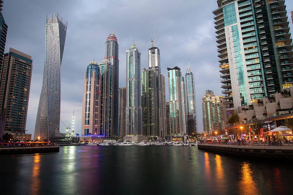 Financial District Art Print featuring the photograph Dubai Marina Afternoon by Brad Rickerby