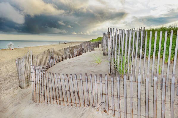 Tranquility Art Print featuring the photograph East Hampton Beach, Long Island, New by Mitchell Funk