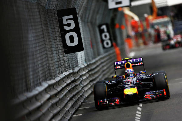 Red Bull Art Print featuring the photograph F1 Grand Prix Of Monaco by Andrew Hone