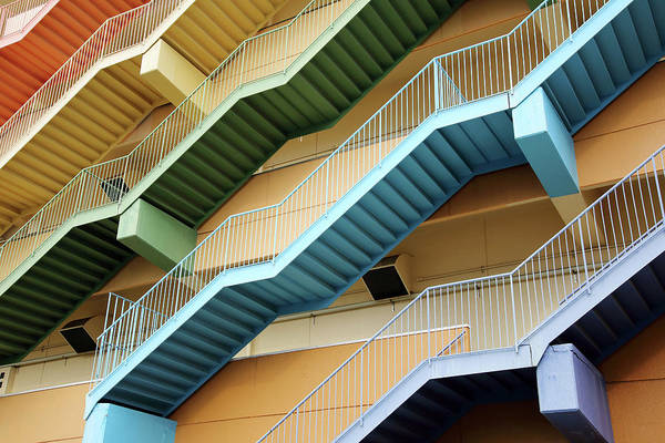 Steps Art Print featuring the photograph Fire Escape Stairs by Akiyoko