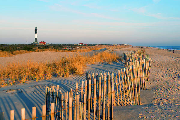 Shadow Art Print featuring the photograph Fire Island Lighthouse, Long Island, Ny by Rudi Von Briel