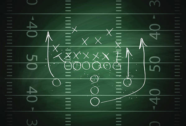 Plan Art Print featuring the digital art Football Play by Traffic analyzer