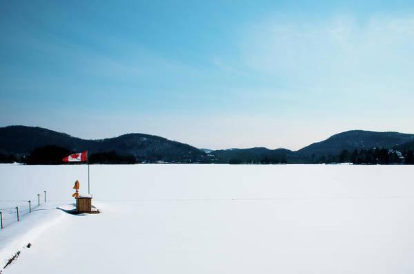 Scenics Art Print featuring the photograph Frozen Lake In Canada by Haja Rasambainarivo
