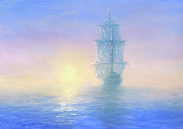 Art Art Print featuring the digital art Ghost Ship by Pobytov