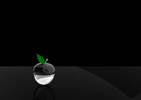Glass Art Print featuring the digital art Glass Apple by Paul McManus
