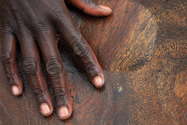 People Art Print featuring the photograph Gold Panning, Gold And Hand, Ethiopia by Dietmar Temps, Cologne