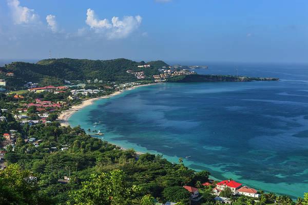 Scenics Art Print featuring the photograph Grand Anse Bay, Grenada by Flavio Vallenari
