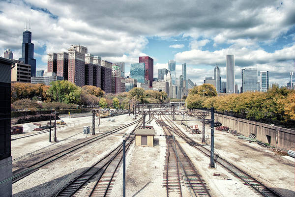 Tranquility Art Print featuring the photograph Grant Park Railroad Tracks by Photographer Who Enjoys Experimenting With Various Styles.