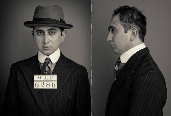 Guilt Art Print featuring the photograph Hakan The Boss Wanted Mugshot by Nick Dolding