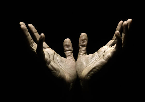 Thank You Art Print featuring the photograph Hands to Heaven by Juanmonino