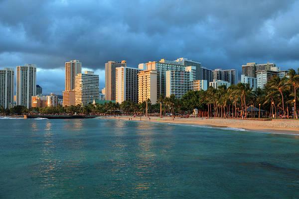 Tranquility Art Print featuring the photograph Hawaii, Oahu, Honolulu, Waikiki Beach by Michele Falzone