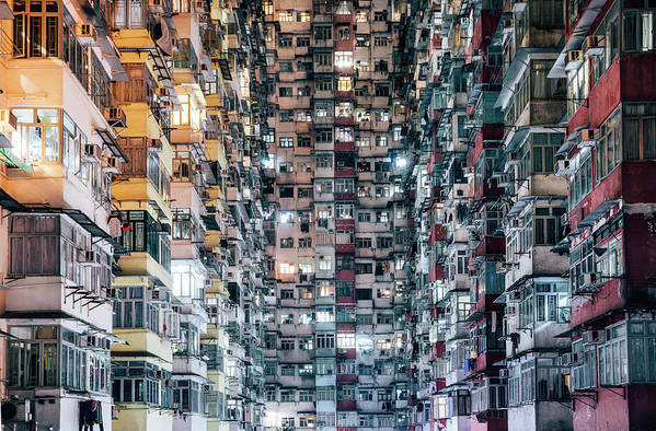 Chinese Culture Art Print featuring the photograph High Density Living by Visualspace