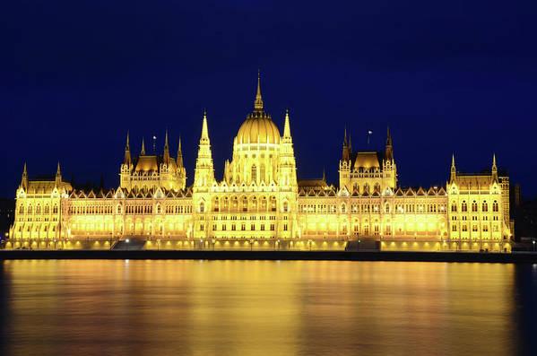 Hungarian Parliament Building Art Print featuring the photograph Hungarian Parliament Building, Budapest by Dragos Cosmin Photos