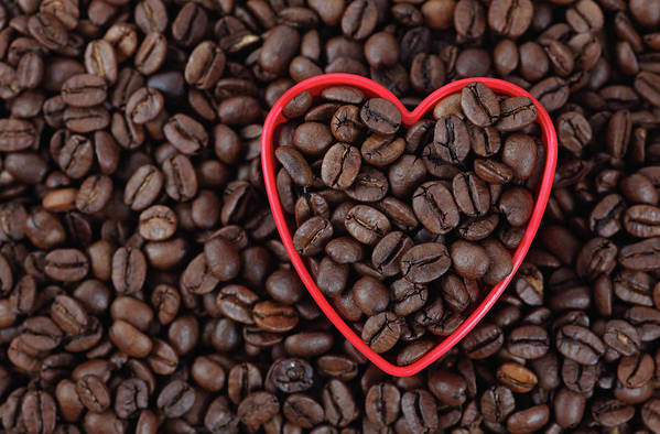 Crockery Art Print featuring the photograph I Love Coffee by Ekaterina79