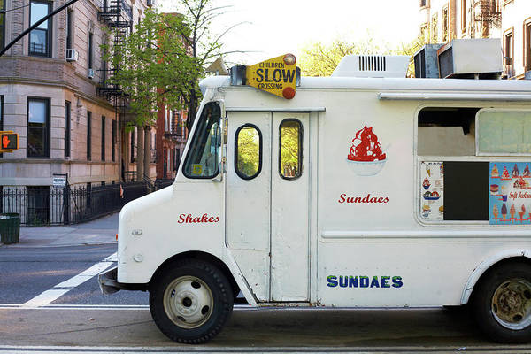 Retail Art Print featuring the photograph Icecream Truck On City Street by Jason Todd