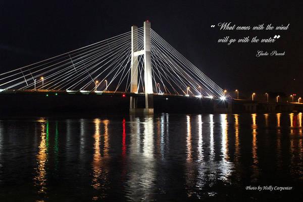 Bridge Art Print featuring the photograph Illuminated Night by Holly Carpenter