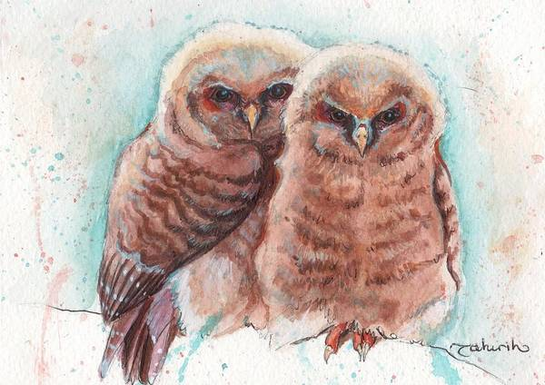 Wildlife Art Print featuring the painting In Cahoots by Tahirih Goffic